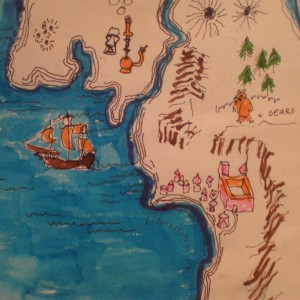 Northern California Map, by Jerry Garcia, c. 1985